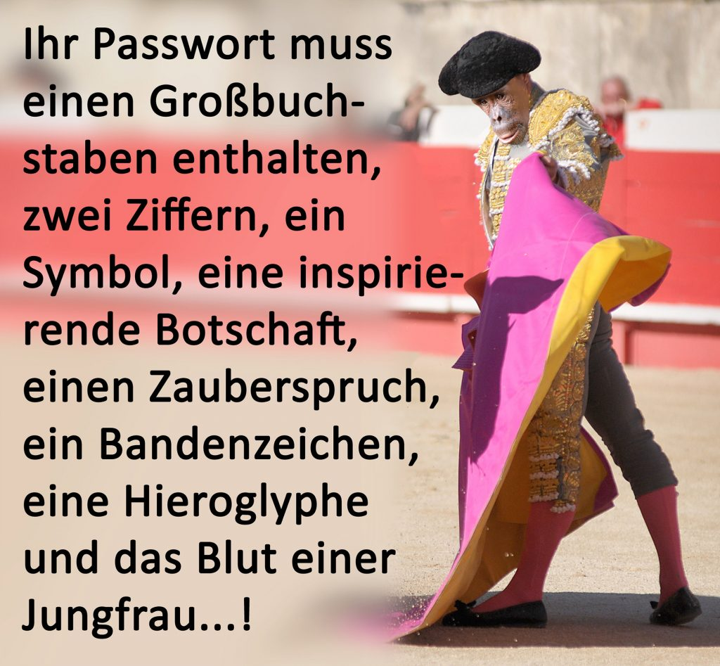 Digital-Humor von Frank Jankowski zum Thema Passwort