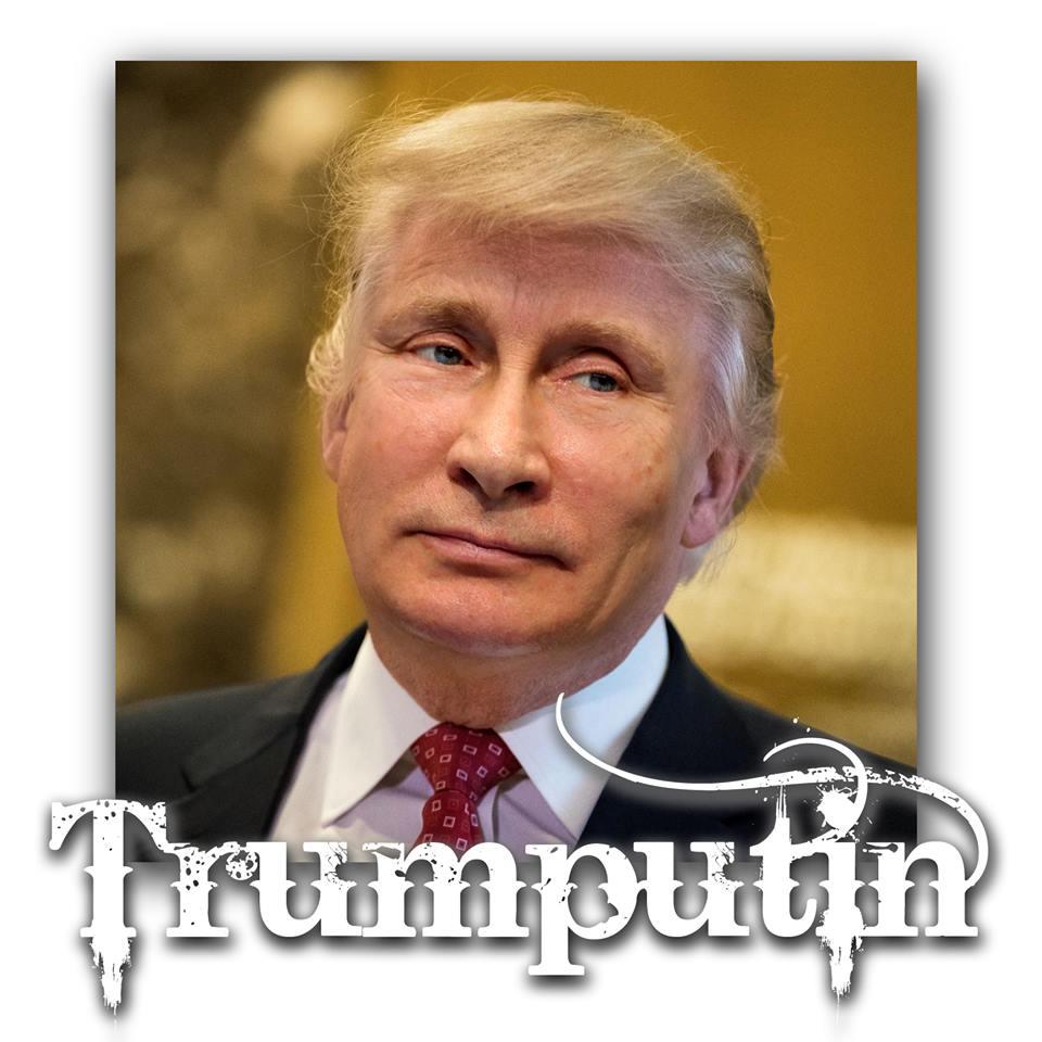 Fotomontage aus Putin und Trump
